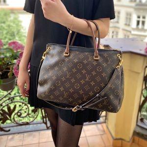 Louis Vuitton Pallas Noir Monogram Canvas Tote Bag